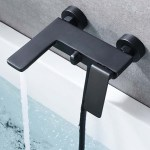 Single Handle Bath Shower Matt Black Fiji Imex