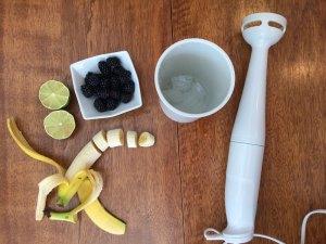 Réalisation du smoothie détox au matcha