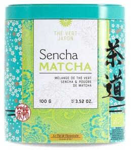 Boite de thé Sencha-Matcha