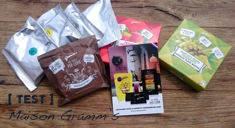 Maison gramm's : du chocolat au matcha et du popcorn