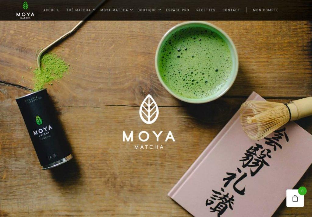 Site web MOYA matcha