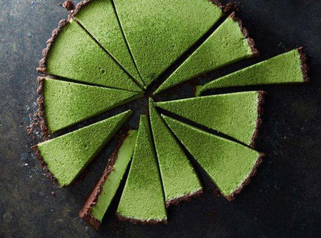 Matcha custard tart
