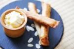 crispy sweet potato fries with apple and cinnamon
