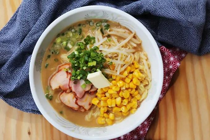 Easy Miso Ramen noodle soup recipe