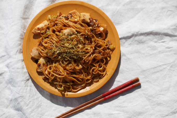 Japanese Yakisoba noodles with Okonomi sauce recipe