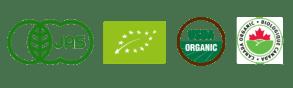 Logo Labels Bio Europe, Canada, Japon, Etats-Unis