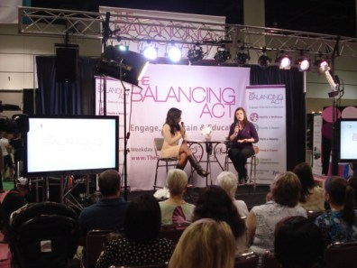 Danielle Knox and guest on Balancing Act Stage