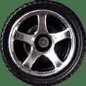 Matchbox Wheels : 5 Spoke - Chrome