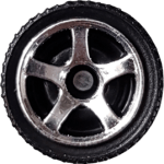 Matchbox Wheels : 5 Spoke - Chrome