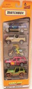 Matchbox 5 Pack : 2000 #02 – Camp Jeep