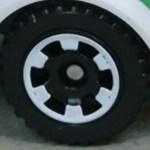 Matchbox Wheels : 6 Spoke - Black - White Rim