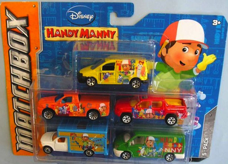 5 Pack - 2012 Handy Manny