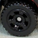 Matchbox Wheels : 6 Spoke Utility - Black