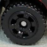 Matchbox Wheels : 6 Spoke Utility - Black