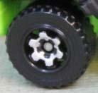 6 Spoke RInged Gear - Chrome-Black