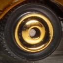 Matchbox Wheels : Ringed Disc - Gold