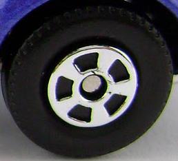 Matchbox Wheels : 5 Spoke New - Chrome