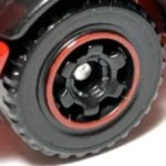 Matchbox 6 Spoke Ringed Gear - Black-Red