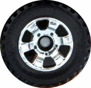 Matchbox Wheels : 6 Spoke Utility - Chrome