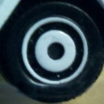 Matchbox Wheels : Ringed Disc - White