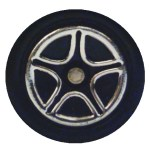 Matchbox Wheels : 5 Spoke Concave Star - Chrome