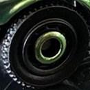 Matchbox Wheels : Disc - Green-Black Rim