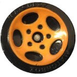 Matchbox 5 Spoke Oval - Orange