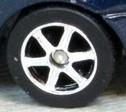 Matchbox 6 Spoke Rubber wheel