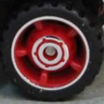 Matchbox Wheels : 5 Spoke Centre Hub Rubber - Red