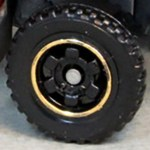 Matchbox Wheels : 6 Spoke Ringed Gear - Black-Gold