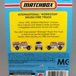 Matchbox MB801-08 : International Workstar Brush Fire Truck