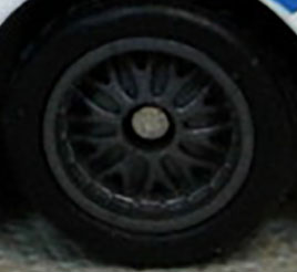 Matchbox Wheels : 10 Spoke Rubber Dark Grey