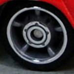Matchbox Wheels : 5 Spoke Centre Hub Rubber - Chrome