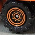 Matchbox Wheels : 8 Dot Dual Ring - Orange