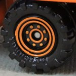 Matchbox Wheels : 8 Dot Dual Ring - Orange
