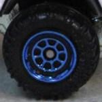 Matchbox Wheels : 8 Spoke Rimmed - Blue