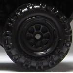 Matchbox Wheels : 8 Spoke Rimmed - Black