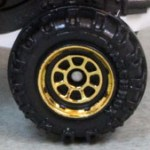 Matchbox Wheels : 8 Spoke Rimmed - Gold