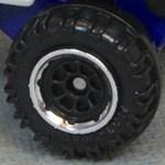 Matchbox Wheels : 8 Spoke Rimmed black-Chrome