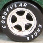 Matchbox Wheels : Goodyear Eagle 5 Spoke Chrome