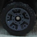 Matchbox Wheels : 5 Dot Crown - Dark Grey