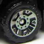 Matchbox Wheels : 5 Dot Crown - Smoke