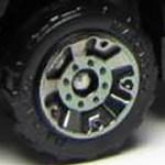Matchbox Wheels : 5 Dot Crown - Smoke