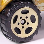 Matchbox Wheels : 5 Spoke Oval - Cream