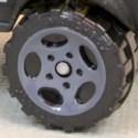 Matchbox Wheels : 5 Spoke Oval - Grey
