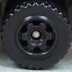 Matchbox Wheels : 6 Spoke Ringed Gear - Black