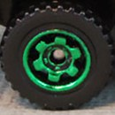 Matchbox Wheels : 6 Spoke Ringed Gear - Green