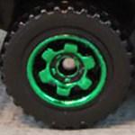Matchbox Wheels : 6 Spoke Ringed Gear - Green
