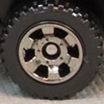 Matchbox Wheels : 6 Spoke Utility - Smoke