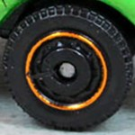 Matchbox Wheels : Disc - Black/Orange